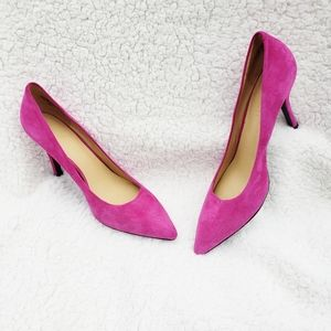 Nine West leather hot pink pumps heels size 6.5